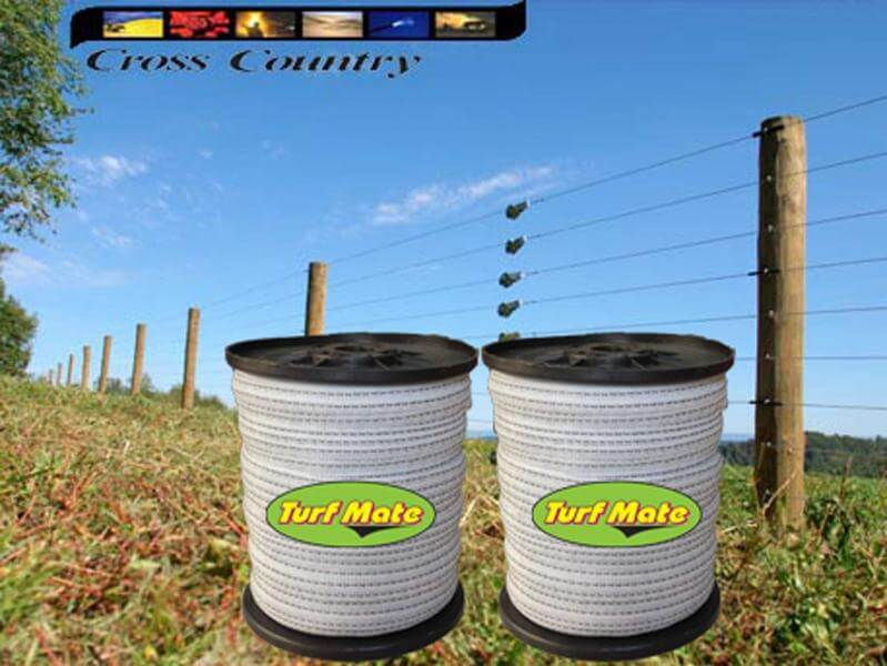Turf Mate 40mm Fence Tape X2 Rolls Plus Free Fence Tester
