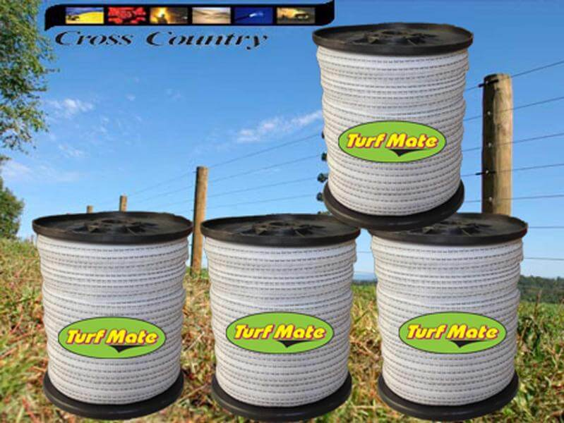 Turf Mate 13mm Electric Fence Tape X4 Rolls Plus Free Fence Tester